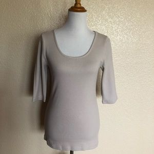 Soft Surroundings Ribbed 1/2 Sleeve Top S NWOT